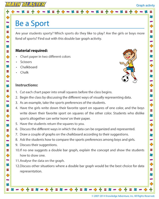 Be a Sport - Double Bar Graph Activity for Kids