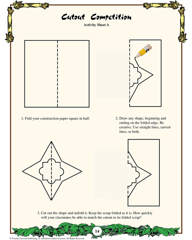 Cutout Competition - Math Worksheet for Kids