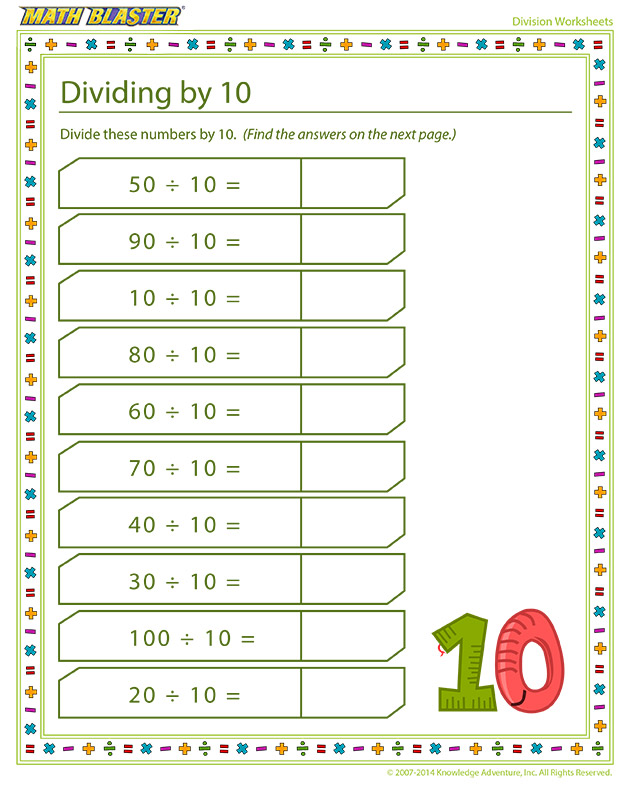 Dividing by 10 - Division is fun!