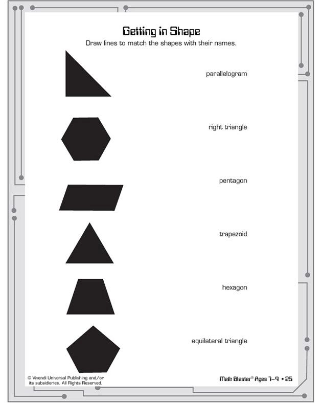 Getting in Shape - Free Printable Geometry Worksheet for Kids