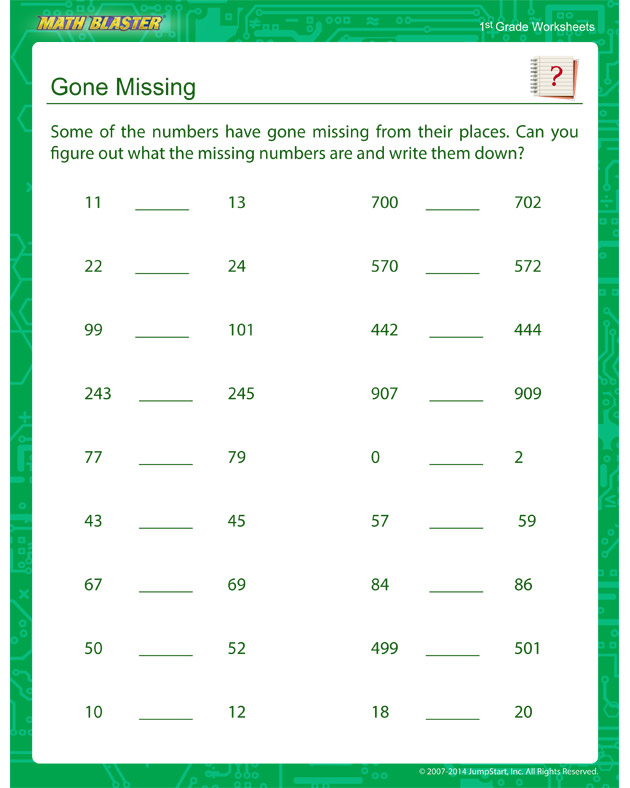 Gone Missing - Sequencing Worksheet for Kids