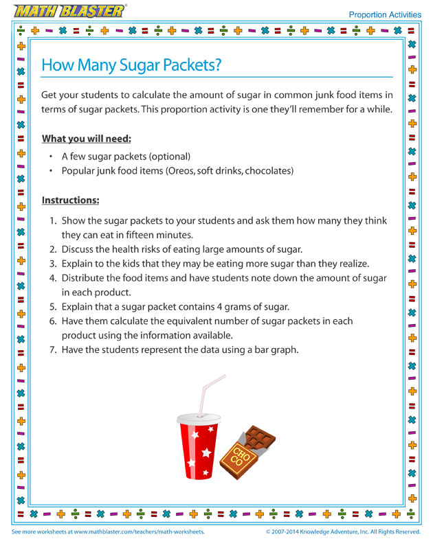 How Many Sugar Packets - Proportions Activity for Kids