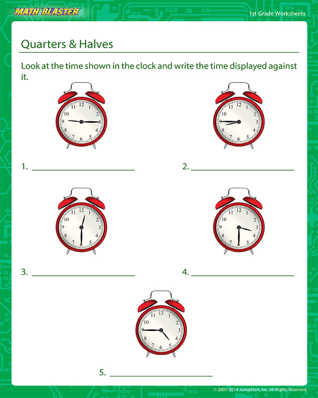 Quarters and Halves - addition Worksheet for Kids