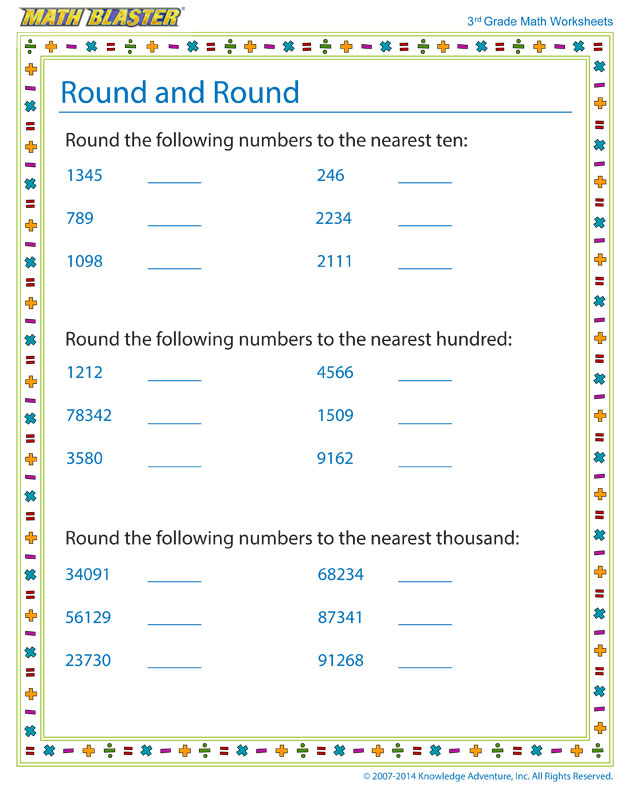 Round and Round - Math Worksheet for Kids