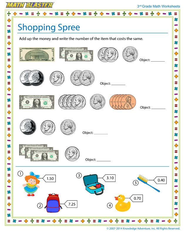 Shopping Coin Worksheet Along With Worksheet - homeactive.us