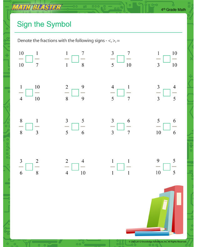 4th Grade Fraction Worksheets Fractions Fractions Worksheets – Fractions for 4th Graders Worksheets