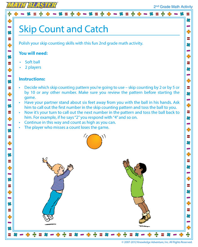 Skip Count and Catch - Free Math Activity for Second Graders