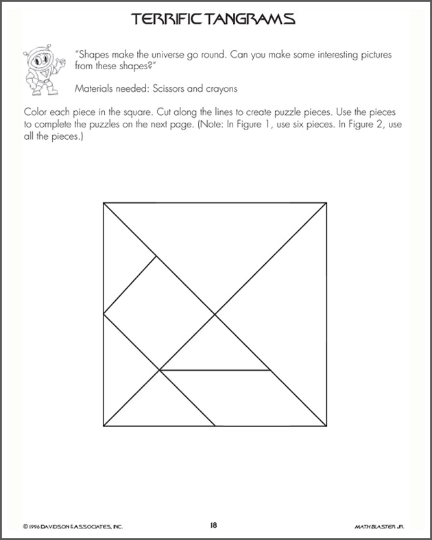 Terrific Tangrams - Math Activity for Kids