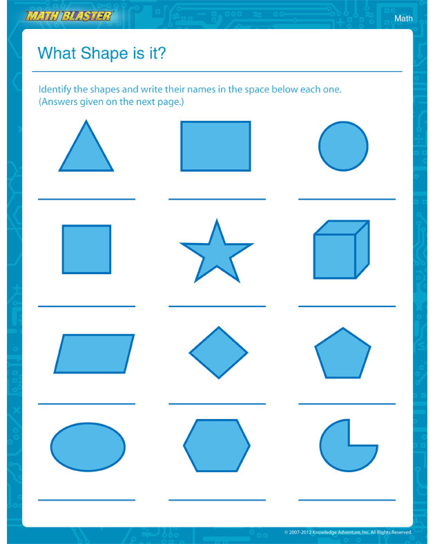 What Shape is it? - Math Worksheet for 1st Graders