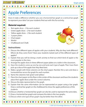 Apple Preferences - Printable Graph Activity for Kids