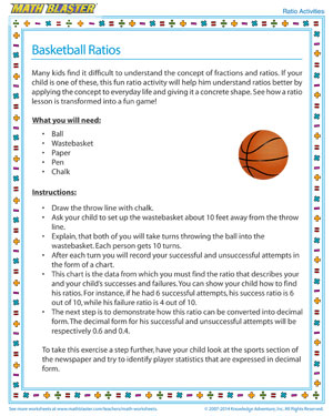 math worksheet : basketball ratios  fun ratio activities for kids  jumpstart : Basketball Math Worksheets