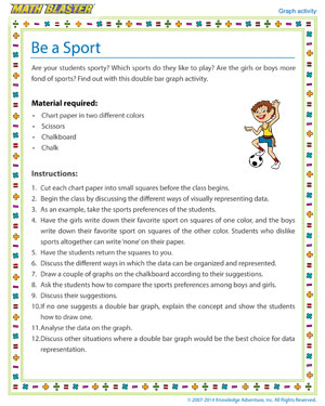 Be a Sport - Printable Graph Activity for Kids