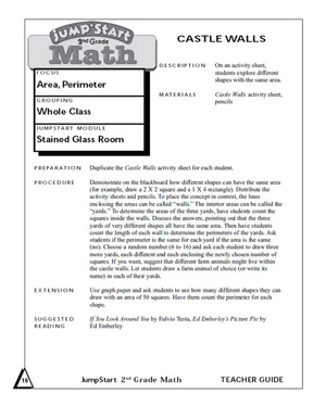 Castle Walls - Printable Geometry Worksheet for Second Graders