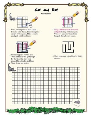 cat and rat  fun geometry worksheet for third grade  math blaster cat and rat  printable geometry worksheet for kids