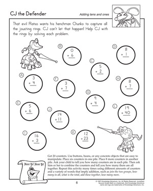 math worksheet : cj the defender  printable addition worksheets for 2nd grade  : Free Math Worksheets For 2nd Grade