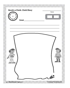 Clock Diary - Printable Time Activity for Kids