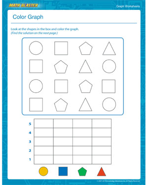 Color Graph – Graph Worksheets for Kids Online – MathBlaster