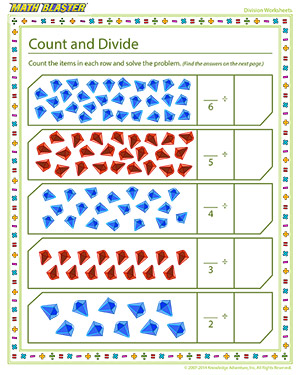 Free Printable Division Worksheet for kids
