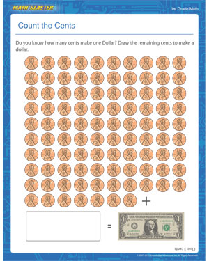Count the Cents - Printable Money Worksheet for Elementary