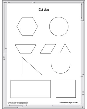 Cut Ups - Printable Geometry Worksheet for Kids