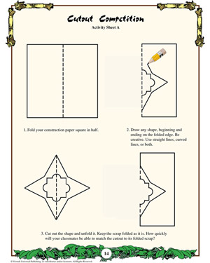 Cutout Competition - Printable Math Worksheet for Kids