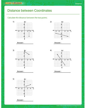 Free distance Worksheet