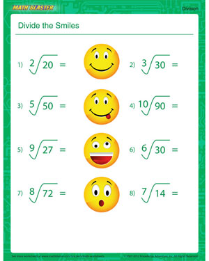 Divide the Smiles - Free Division Printable