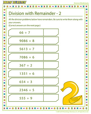 Free division worksheet for elementary grades