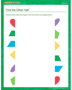 Free first grade geometry worksheet