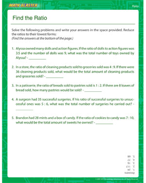 Find the Ratio - Printable Ratio Worksheet for Kids