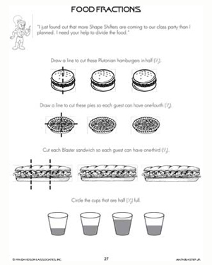 Food Fractions – Free & Printable Math Worksheets for Kids – Math ...