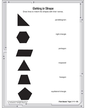 Getting in Shape - Printable Geometry Worksheet for Kids