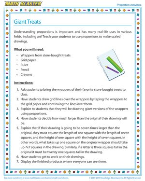 Giant Candy - Printable Proportions Activity for Kids