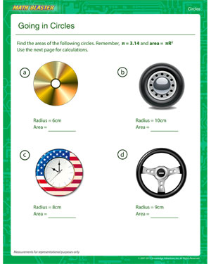 Going in Circles – Free Area of a Circle Worksheet for 4th Grade ...