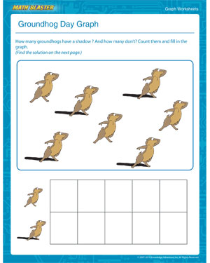 Groundhog Day Graph - Online Graph Worksheet and Printable