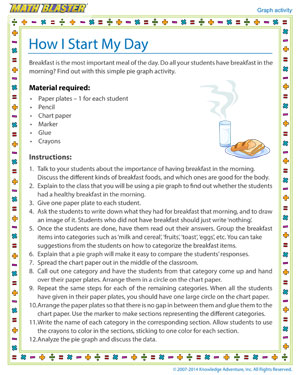 How I Start My Day - Printable Graph Activity for Kids