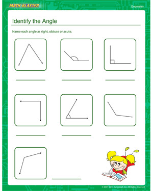 Identify the Angle – Free Geometry Worksheets – MathBlaster