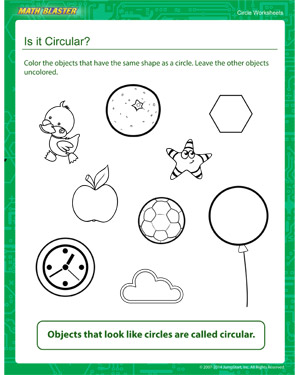 math worksheet : is it circular  kindergarten circles worksheet  math blaster : Maths Circles Worksheets