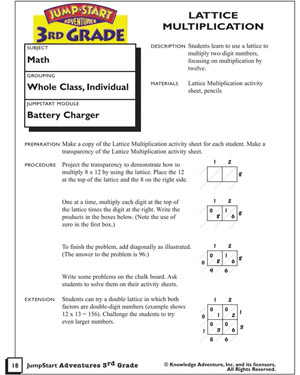 Printables Lattice Multiplication Worksheets lattice multiplication printable activities for multiplication