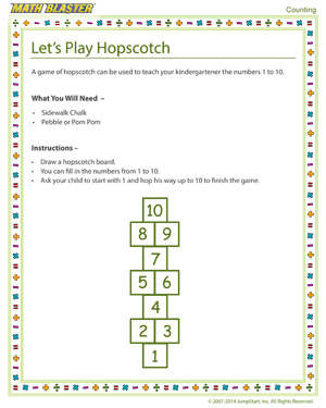 Free Counting Activity for Kindergarten