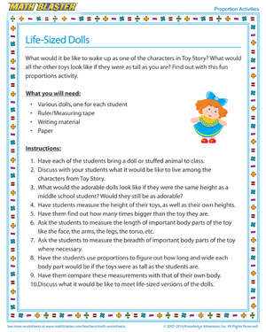 Life-Sized Dolls - Printable Proportions Activity for Kids