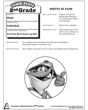 math worksheet : math is fun  printable subtraction worksheets and problems for  : Fun 2nd Grade Math Worksheets