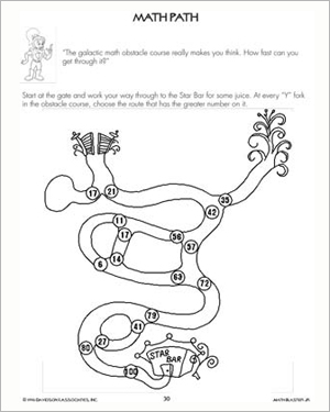 Math Path - Printable Math Worksheet for Kids