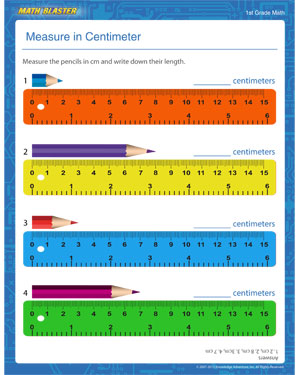 Worksheets Measurement Worksheets Grade 1 measure in centimeters free printable pdf on metric system for centimeter