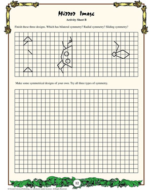 Mirror Image - Printable Math Worksheet for Kids