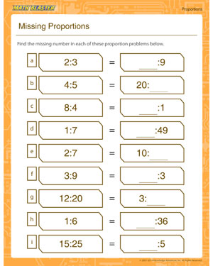 Printables Proportion Worksheets missing proportion printable worksheet math blaster proportion