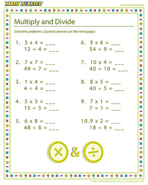 Free division printables for elementary grades