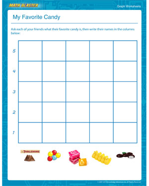 My Favorite Candy - Printable Graph Worksheet for Elementary