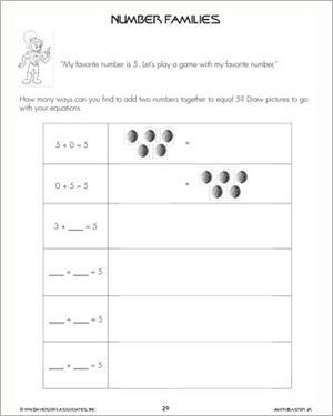 Number Families – Math Skills and Worksheets for Kids – Math Blaster