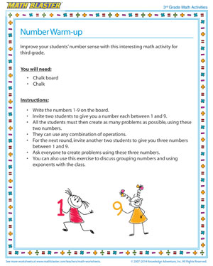 Number Warm-up - Did you see this fun 3rd Grade Number Sense Activity?